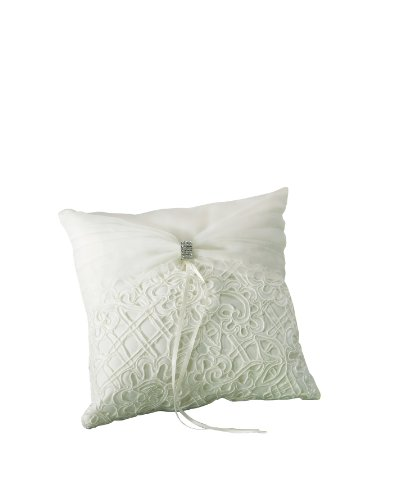 Weddingstar Bridal Tapestry Square Ring Pillow, Ivory Bridal Tapestry Square Ring Pillow