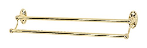 Alno 24' Towel - Alno A8025-24-PB Classic Traditional Double Towel Bars, Polished Brass