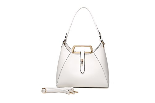 MKF Collection Beatrice Hobo Bag by Mia K. Farrow (White) - Beatrice Leather