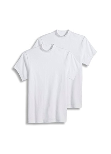 (Jockey Men's Sportswear Short Sleeve Mock Neck Tee - 2 Pack, White, XL)
