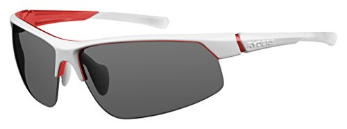 Ryders Saber R872-004 Wrap Sunglasses, White with Red Frame, 55 - Sunglasses Saber