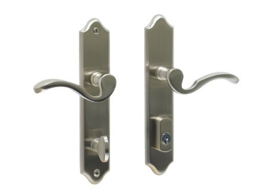 Imperial by FPL- Solid Brass Active Trim Only Lever Set for Multipoint Lock, Schlage Keyway, Satin Nickel
