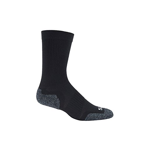 5.11 10033-019-M Slip Stream Crew Socks, Black, Medium
