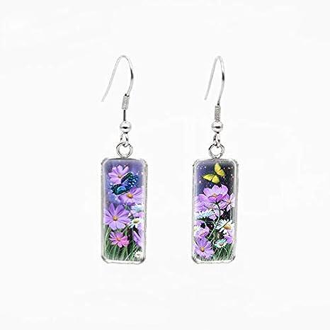 Amazon.com: Mariposas y Flores arte patrón cuadrado ...