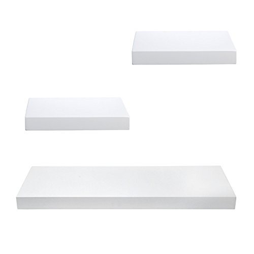 WOLTU Floating Wall Ledge Set Display Shelf Storage Rack with Hidden Brackets, 12
