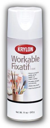 Krylon Fixative Provides Lasting Protection to Pencil, Pastel and Chalk Drawings (Pkg/3) by Krylon