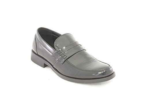 AwAy mocassin brillant en cuir noir loafer black leather