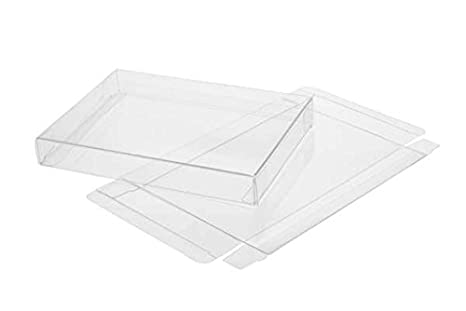 clearbags 8 x 10 crystal clear plastic retail boxes with tuck top high density pet