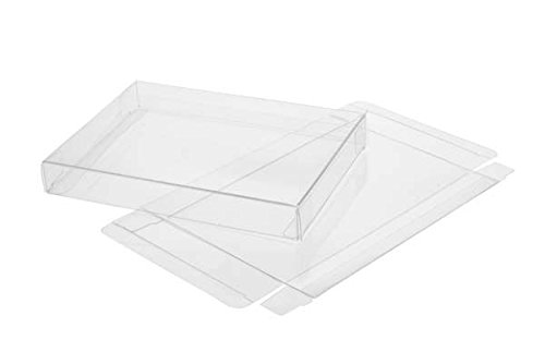 Crystal Clear Boxes - ClearBags Crystal Clear Box for Holiday Greeting Cards | High Density PET Soft Fold Design Protects Cards, Letters, Photos | Acid Free & Archival Safe | 25 Boxes FB3 (A2, 5.5-bar | For 8 card sets)