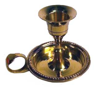 (New Age Brass Chamberstick Tapered Candle Holder)