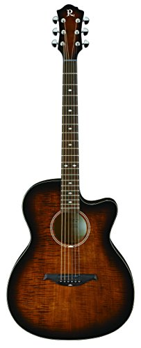 B.C. Rich BCR3TEB Acoustic-Electric Guitar, Tobacco Burst