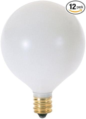 25-Pack 25-watt G16-1//2 Globe Satin White Satco S3825 25G16-1//2 120V