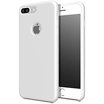 silicone iphone 7 plus case white
