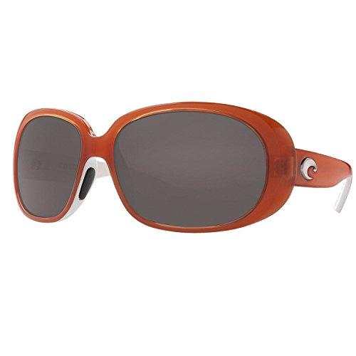 Costa Del Mar Hammock Polarized Sunglasses Salmon White/Dark Gray - Mar Hammock Del Costa