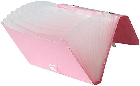 Organizador de archivos expandible con lengüeta A4 acordeón archivador carpetas caja carteras carpeta de documentos con asa 13 bolsillos: Amazon.es: Oficina y papelería