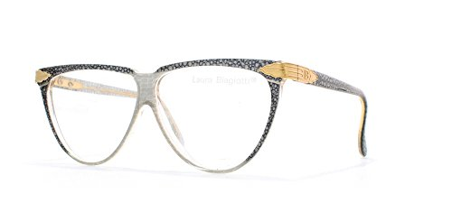 Laura Biagiotti V75 154 Blue and Grey Authentic Women Vintage Eyeglasses - Biagiotti Glasses Laura
