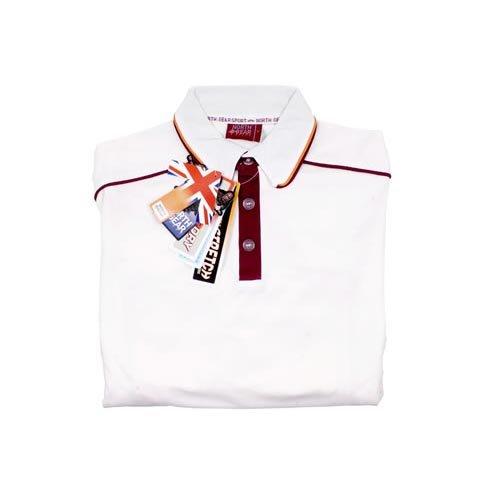 Short Sleeve Maroon Piping Elite Cricket Shirt Kids