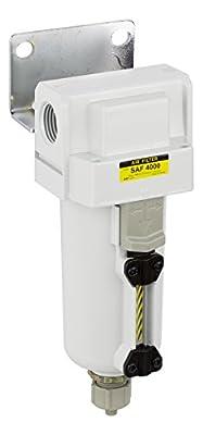 "PneumaticPlus SAF4000M-N04B-MEP Compressed Air Particulate Filter, 1/2"" NPT, Manual Drain, Metal Bowl, 10 ?m"