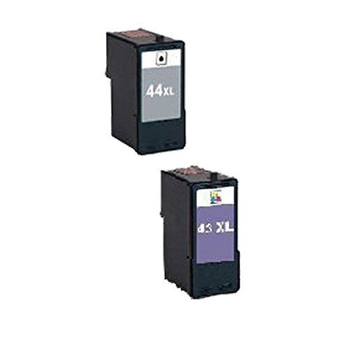 Lexmark #43XL 18Y0143 #44XL 18Y0144 Compatible Remanufactured High Yield Black Color Ink Cartridge …2 (18y0144 44 Black Cartridge)