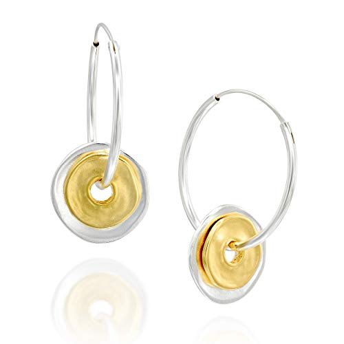 Two Tone 925 Sterling Silver & 14k Gold Plated Silver 1