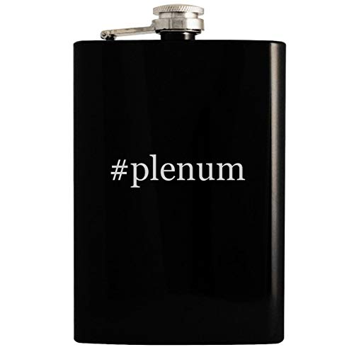 - #plenum - Black 8oz Hashtag Hip Drinking Alcohol Flask