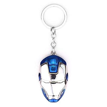 Iron Man Llaveros Avengers ARC Reactor Máscara Llaveros ...