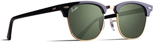 [スポンサー プロダクト]Berikin サングラス 偏光 高品質ガラス ブロー サーモント クラシック ユニセックス メンズ レディース UV400 sunglass for men women
