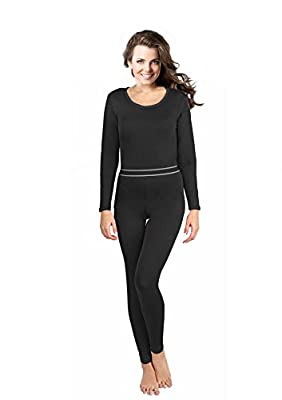 Women's 2pc Thermal Underwear, Top & Bottom Fleece Lined Long Johns - by Rocky