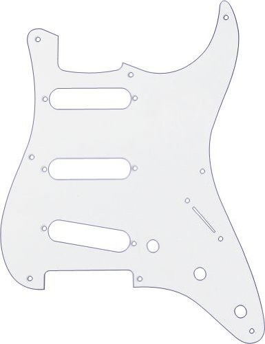Fender 57 Stratocaster (8-Hole) 1-Ply Pick Guard for 3 Single-Coil Pickups - White