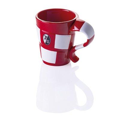 """Tasse """"Schal"""" SC Freiburg - Kaffeebecher, Tasse, Becher, Kaffeetasse, Kaffeepot, Mug"""