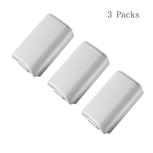 Salesland Sound Wireless White Controller Back AA Battery Cover Pack Case Shell for Xbox 360 Controller-3Pcs