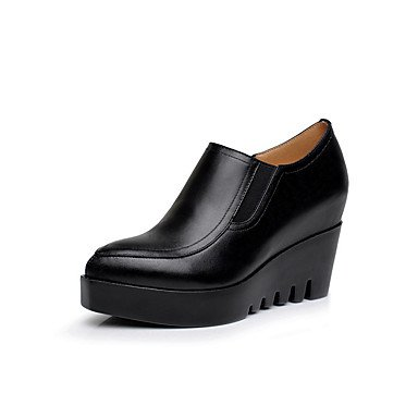 2In CN40 2 RTRY Formal EU39 amp;Amp; Wedge Office Black 3 Women'S UK6 US8 Real Heels Fall 4In 5 Leather Spring Shoes Career Heel 5 ZS6RgWwZr