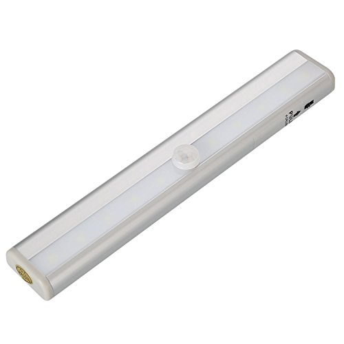 Zeroedge Stick On Anywhere Portable 10 LED Wireless Motion Sensing Closet  Cabinet LED Night Light / Stairs Light / Step Light Bar (Battery Operated)