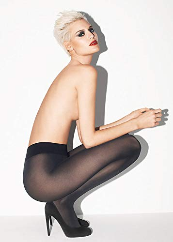 Wolford Seamless Pure 50 Tights (14434) XL/Black by Wolford