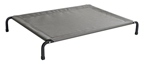 Fiksu Pets Heavy Duty Elevated Pet Bed (Large) With Extremely Durable, Breathable, Tear Resistant, Mesh Cover with Steel Square Tube Frame