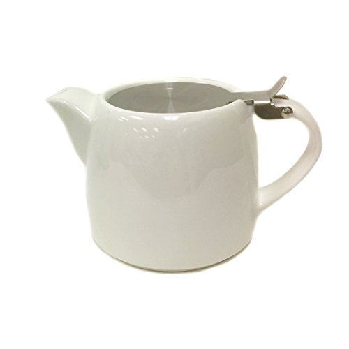 glossy white teapot - 6