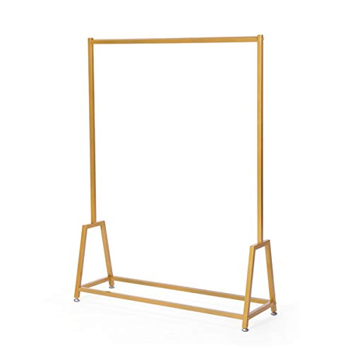 LINGYAN Mall Clothing Rack,Photo Studio Clothing Display Stand,Performance Costume Prop Display Stand,Balcony Drying Rack,Bedroom Hanger,Indoor Dry Hanger,Clothing Shelf,Metal Iron Frame (Gold) by LINGYAN (Image #7)