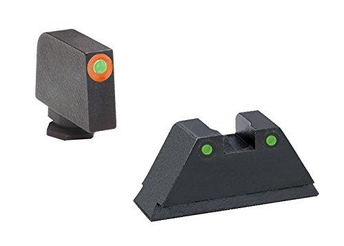 AmeriGlo GL-452 Glock 17-41 Supressor Height Set Orange Outline, 140