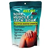 RELIEF Sore Muscle & Back Soak -Eucalyptus Scented Epsom Salt 1lb