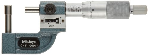 Mitutoyo 295-314 Tube Micrometer, Mechanical Counter Model, Ratchet Stop, 0-1