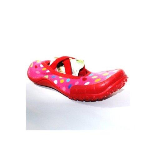 Simpls By Puket - ballerines souples tissu chaussures détente Couleur - rouge, pointure - 37