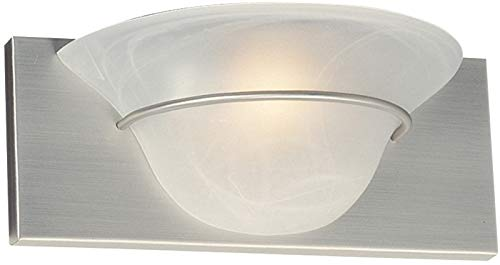 Craftmade 17112BN1 Moonglow Wall Sconce Lighting, 1-Light, 100 Watts, Brushed Satin Nickel (12