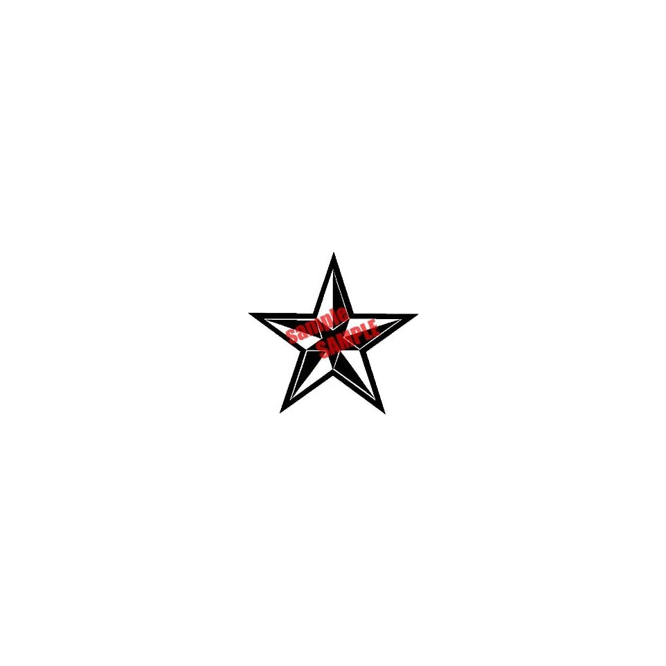 STAR NAUTICA STAR OUTLINE WHITE VINYL DECAL STICKER