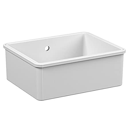 Reginox Mataro 1.0 Bowl White Ceramic Undermount Kitchen Sink ...