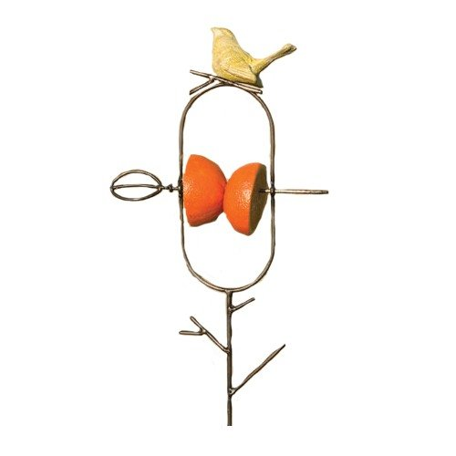 Ancient Graffiti Ceramic Yellow Bird Staked Fruit (Garden Opoly Game)
