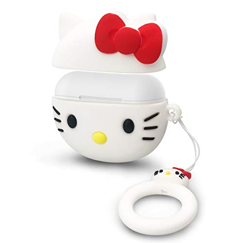 Protective Silicone Cover for Airpods Pro Case with Anti - Lost Rope, Durable Full Shockproof Protector for Airpods Pro/Airpods 3 Charging Case - Hello Kitty (Contact Case Hello Kitty)