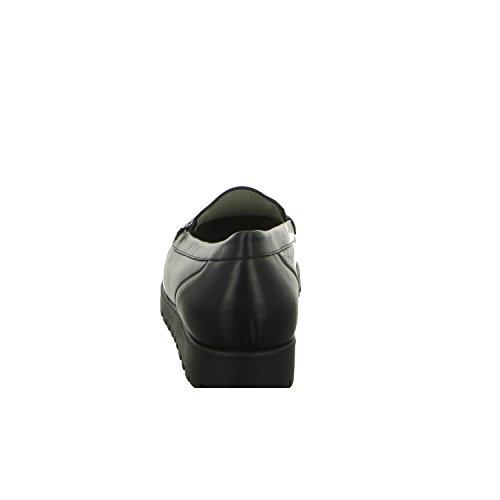 Waldläufer Hegli 549001 186 001 Damen Komfort Slipper Halbschuh Extra Weit Schwarz