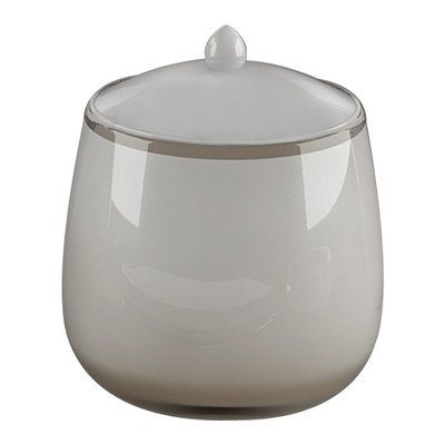Nu Steel Roly Poly Collection Cotton Swab Container
