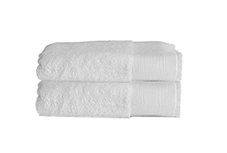 1eb7aeb29b Allure Bath Fashions Luxury Towel Set in 60% Bamboo   40% Cotton  Marlborough Collection 2 x Absorbent and Quick Dry Hand Towels Set 50 x  90cm 550gsm in Pure ...