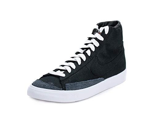 Nike Mens Blazer Mid '77 VNTG WE Black/White Canvas Size 10.5